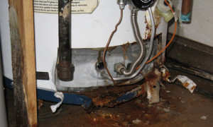 ruptured water heater
