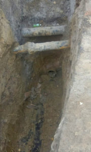 existing sewer tap
