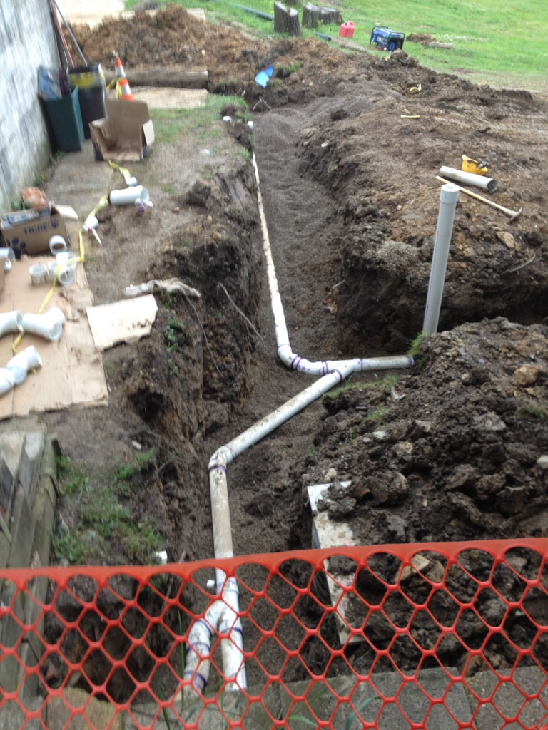 Sewer installation