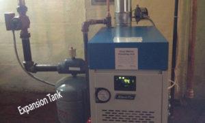 expansion tank on boiler