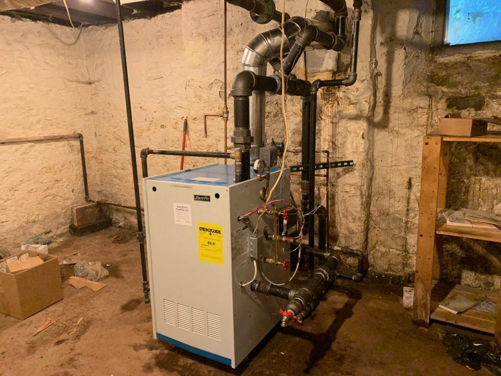 Correct steam boiler installation