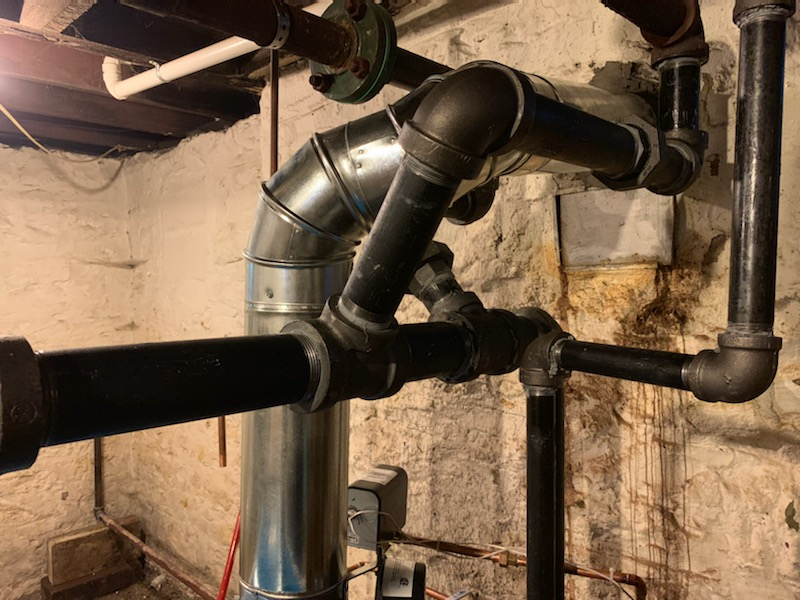 Correct steam boiler installation no copper on pressure lines and avoid dissimilar metals