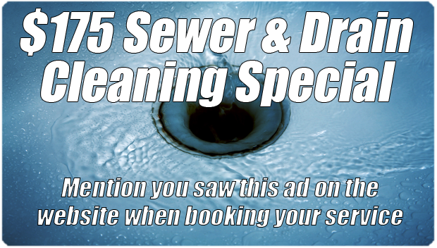 Sewer and drain cleaning special